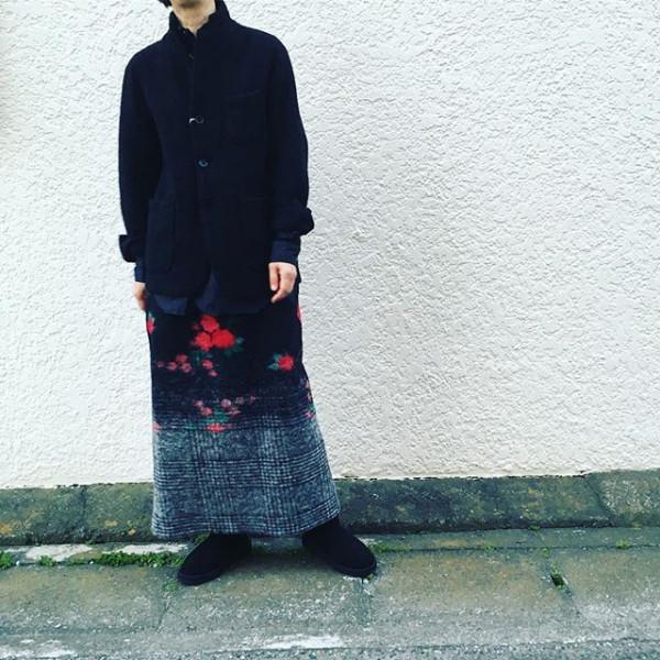 *new item♪**ブラックのブークレのジャケット!暖かでコート代わりにも。**