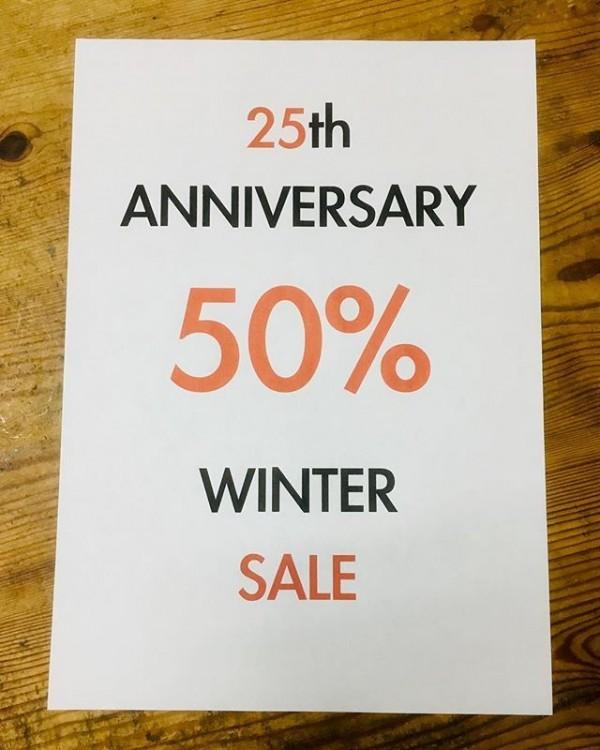 ・・25th anniversary・・本日より春物、一部定番商品をのぞき50%OFFになります!・・詳しくはスタッフにお聞きください! ご来店お待ちしております。・・・bonnejounee・shabiller