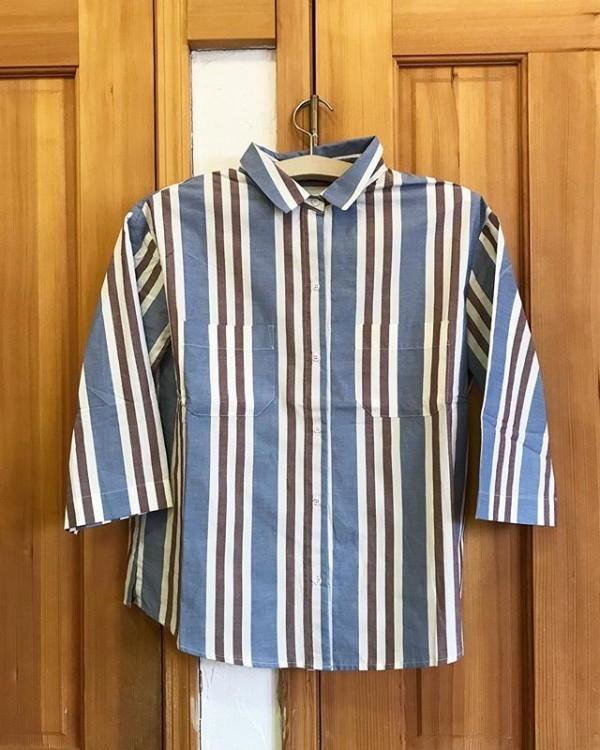 **インポートのシャツ入荷しました。リネン&コットン他の色、柄もございます*Price ¥16000**