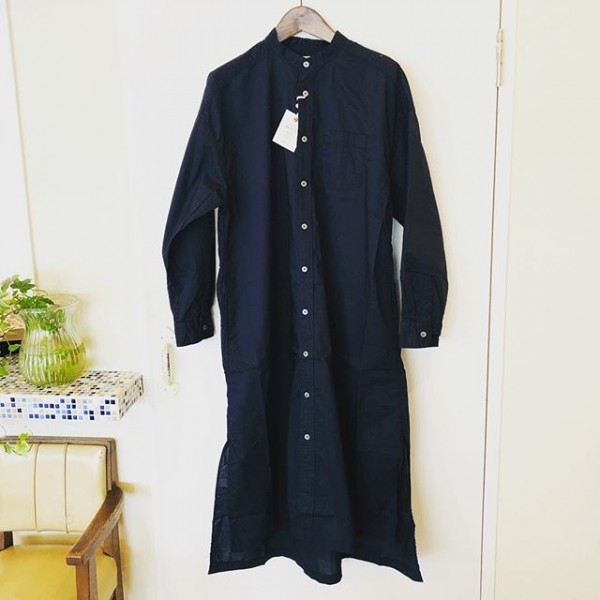 *new item☆**ノーカラーシャツワンピース***