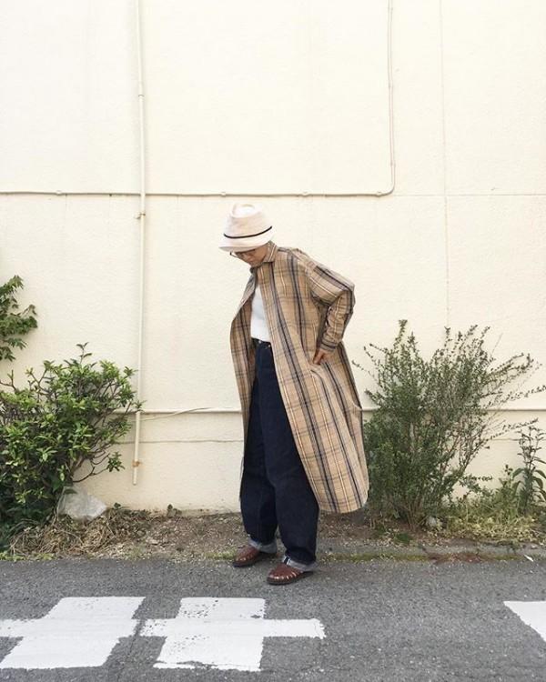 *new item♪**チェックのワンピース羽織にもなるので、温度の調節に!**