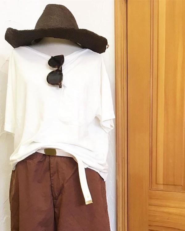 *new item♪***バンブー Tシャツとてもしなやかな素材になります。**ブラウンのチノパンも再入荷!**