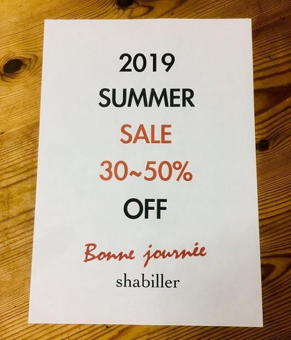 ・SALE・・30〜50%OFF・・・19日から始まります!・・USEDも入荷しております!・・・bonnejounee・shabiller・SALE・USED