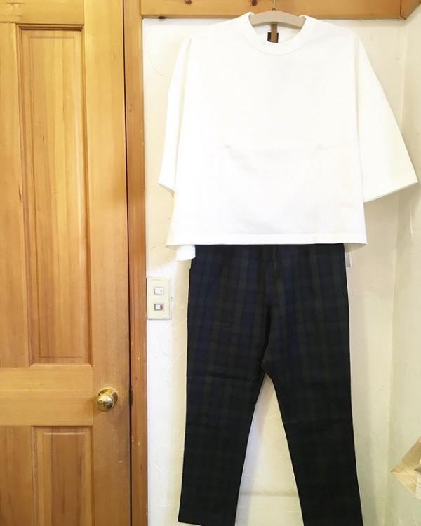 *new item♪7分袖のドロップショルダーcotton100%