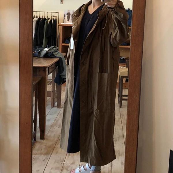 *new item☆***秋に活躍するフードタイプのコート丈が少し長めです** *