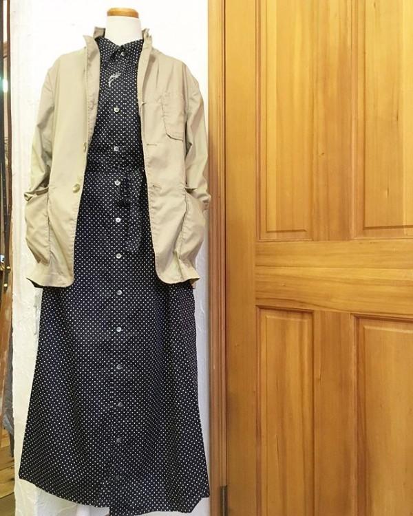 *new item♪enginered garmentsより!ドットのワンピース入荷。