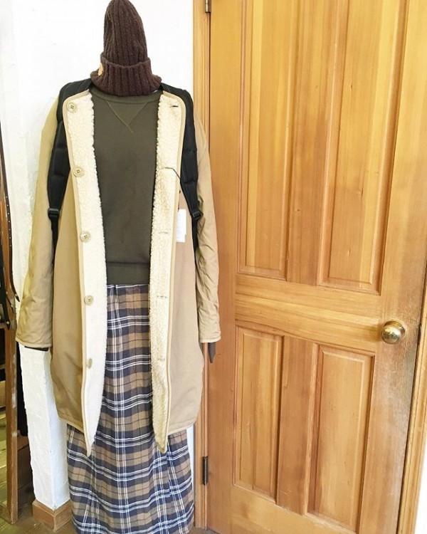*new item♪***lenoより。**リバーシブルのコートのベージュ。**