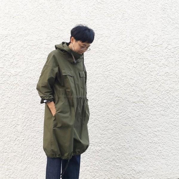 *enginered garmentsより。**軍物ぽいデザインが良いです。タイツ履いてワンピースにしても。。。**