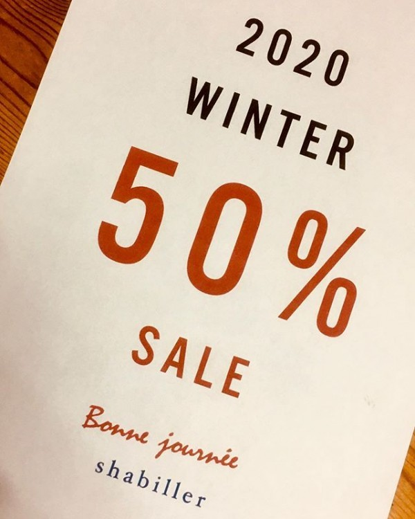 ・2020 winter・・50% OFF・明日1月18日よりスタート・・ご来店お待ちしております・・・