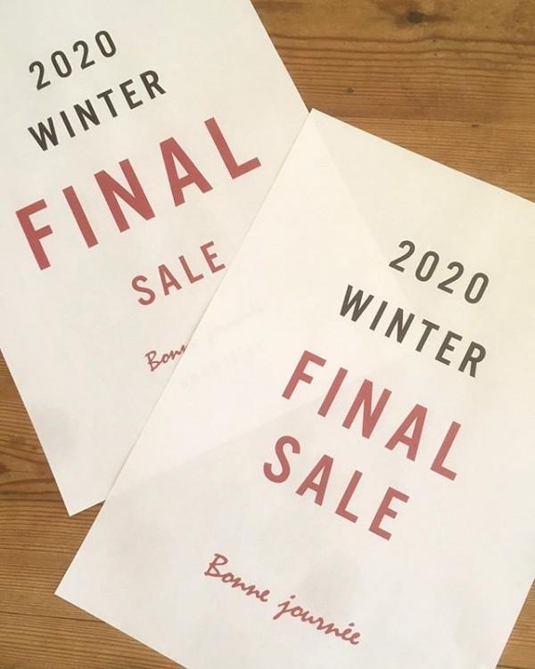 ・お休みのお知らせ・・2月20日木曜日・展示会の為お休みさせて・いただきます。・・お店はFINAL SALEを・開催しております!・春物も日々入荷しています。・・ご来店お待ちしております。・・・bonne journee