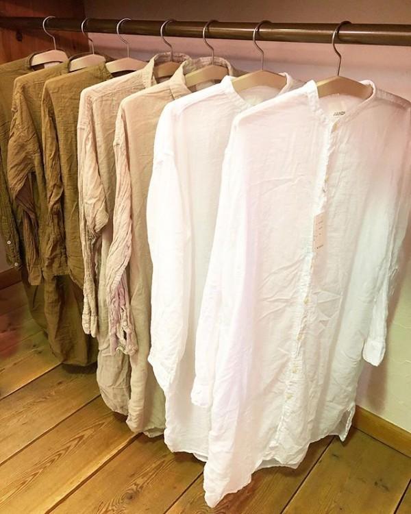 *new item♪**amenよりガーゼ素材のシャツ入荷致しました。気持ちの良い上質なガーゼシャツ軽く羽織りにも…。***