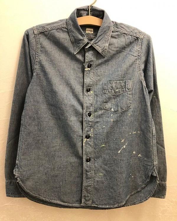 *new item♪...シャンブレー!寒いのか暑いのか今の気候が不安定で、シャツは便利。.ガーゼの素材のトップスは心地よく着れます。...