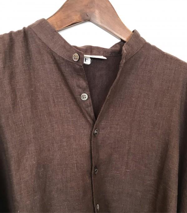 .new item..こちらもARTE POVERA厚手リネンのプルワンピースとシャツになります。..こっくりとした色合いです。..