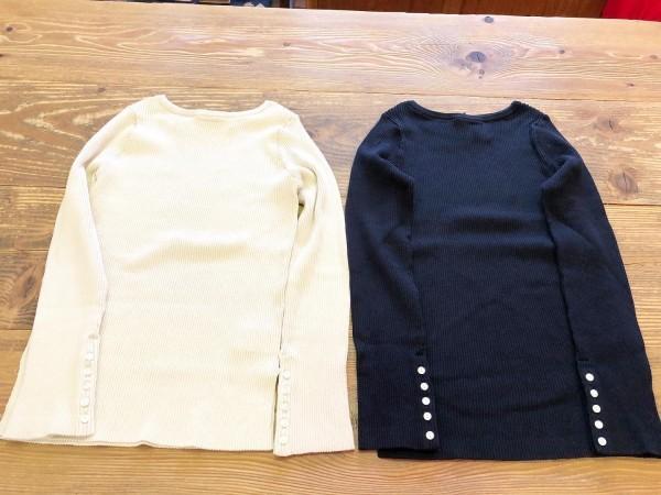 *new item☆..Macpheeからcottonリブニットのクルーとカーデガンが入荷です。..カーデガン¥14000+taxクルーネック¥12000+tax